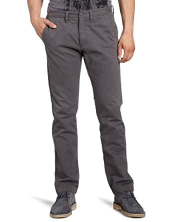 Vans Men's Excerpt Chino Straight Trousers, Grey (Gravel), Large (Manufacturer Size:34)