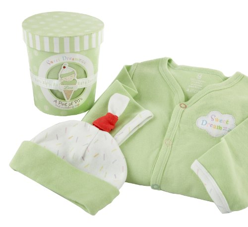 Baby Aspen, Sweet Dreamzzz A Pint Of Pj'S Sleep-Time Gift Set, Lime, 0-6 Months