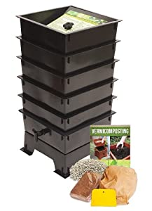 Worm Factory DS5BT 5-Tray Worm Composter, Black
