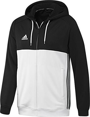 Adidas T16 Felpa con cappuccio da uomo Multicolore nero / bianco L