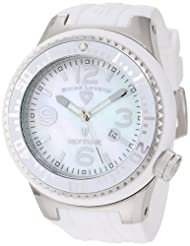 Swiss Legend Watches, Men's Neptune White Mother Of Pearl Dial White Silicone, Model 21818P-02-MOP