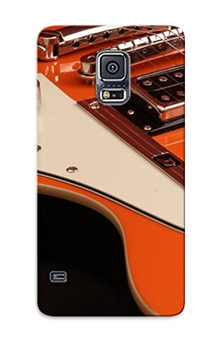 Trolleyscribe Rfpxmsx3632Ebuwo Protective Case For Galaxy S5(Closeup Music Orange Guitars Chrome Electric Guitars Duesenberg Starplayer Special ) - Nice Gift For Lovers
