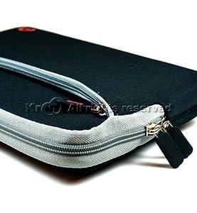 Kroo Black Neoprene Sleeve Carrying Case Cover for 10.1inch netbook/tablet+nano stapler