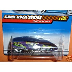 Mattel Hot Wheels 1999 1:64 Scale Game Over Series Purple Lean Machine Die Cast Car 1/4