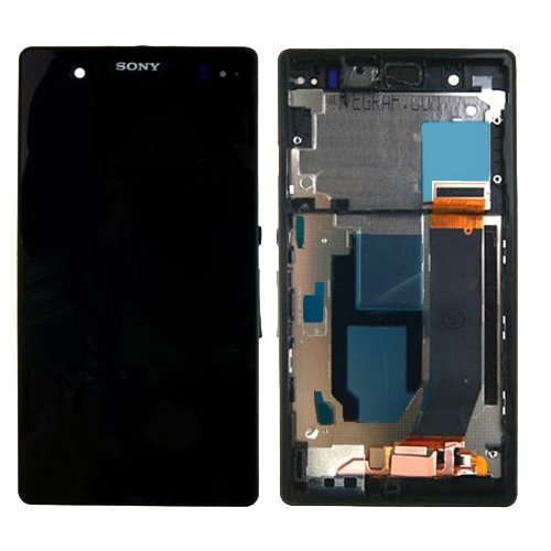 For Sony Xperia Z L36H Lcd Digitizer With Frame For Sony Logo Black - All Repair Parts Usa Seller
