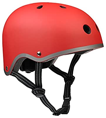 Micro Safety Helmet Matt Red Medium for Boys and Girls Cycling Scooter Bike from Micro Scooters