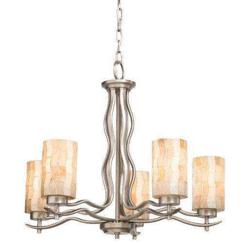 Kichler Lighting 66050 5 Light Modern Mosaic Chandelier, Antique Pewter