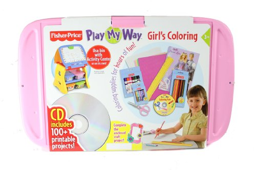 Play My Way Girls Coloring By Fisher-Price front-96918