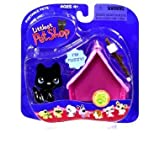 Littlest Pet Shop: Portable Pets - Black Dog With Pink Tent