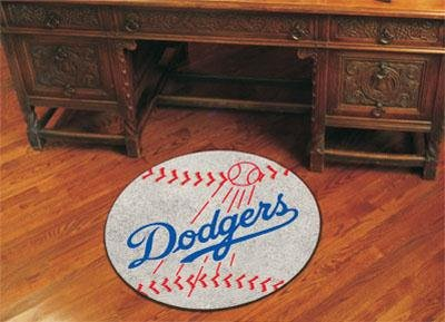 "Los Angeles Dodgers 29"" Round Baseball Floor Mat (Rug) at Amazon.com"