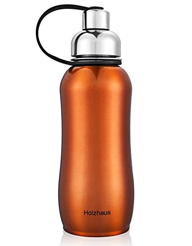 Holzhaus 22-Ounce Stainless Steel Vacuum Insulated Drinking Flask Sports Water Hydration Bottle Travel Tumbler