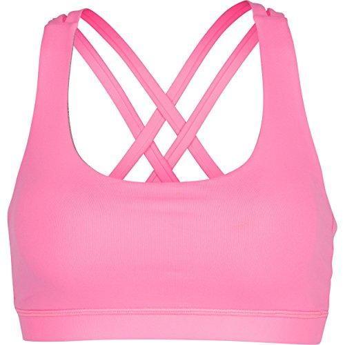STRYK Women's Premium Active Support Yoga Crossfit Gym Sports Bra (Medium, Hot Pink)