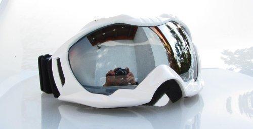Ravs Skibrille Snowboardbrille Glas Silber Gespiegelt !