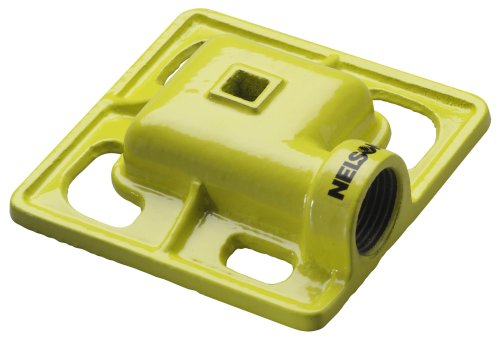 Nelson Cast Iron Square Spray Pattern Stationary Sprinkler Head 50951 front-520541