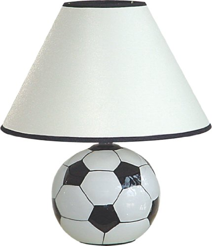 "12""H Ceramic Soccer Sports Table Lamp - 604Sc front-448280"
