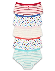 5 Pack Cotton Rich Striped & Spotted Shorts