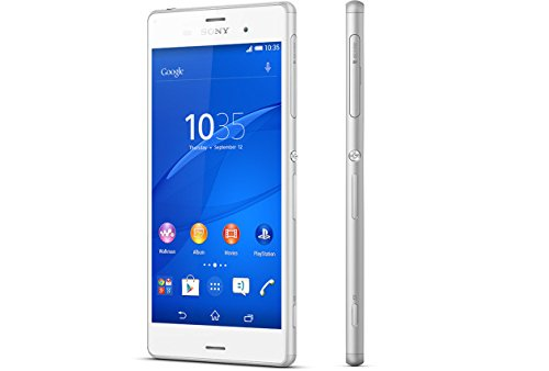 Sony Xperia Z3 D6633 Dual Sim White 16Gb Ip65/Ip68 Factory Unlocked - International Version - 4G Lte 700(B13)/700(B17)/ 800(B20)/850(B5)/900(B8)/1700|2100(B4)/1800(B3)/ 1900(B2)/2100(B1)/2600(B7) ] No-Warranty