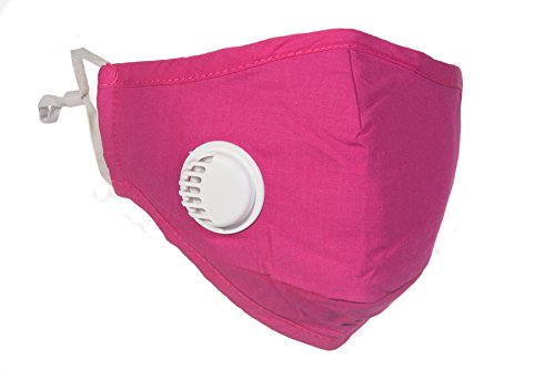 PM25-Pink-Travel-Mask-with-Exhale-Valve-4-N99-Filter-Set-Available-in-Black-Navy-Beige-Grey-and-Pink