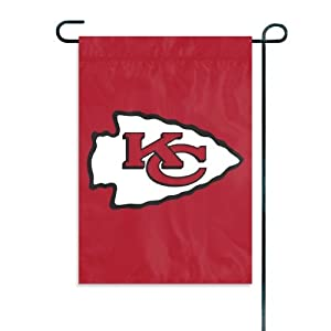 Kansas City Chiefs Official NFL 15 Garden Flag + Stand by Party Animal by Party Animal