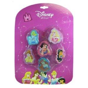 Disney Princess Erasers Set - 6 pcs - Set of 6 Erasers