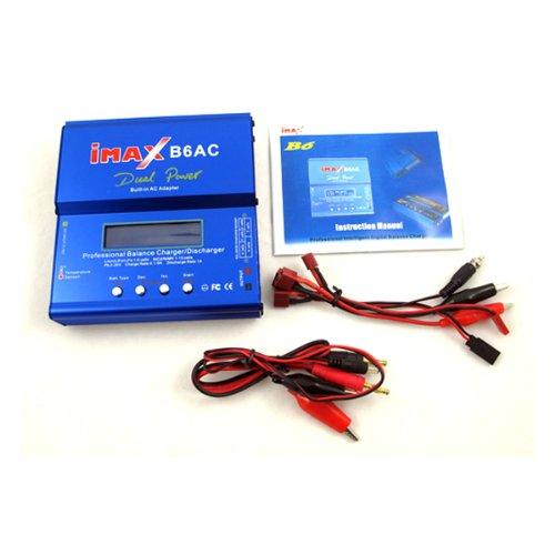 Digital LCD iMAX B6-AC B6AC Lipo/NiMH 2S-6S Balancing Charger Charming Blue US