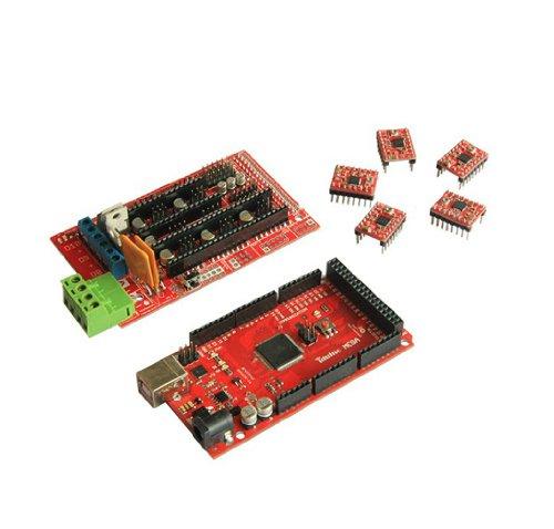 Puyu 3D Printers Iduino Mega2560 Control Board (Arduino Compatible) + RAMP1.4 Panel + A4988 Drive