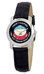 South Park Women's D1559S021 Eurus Collection Cartman Black Leather Watch