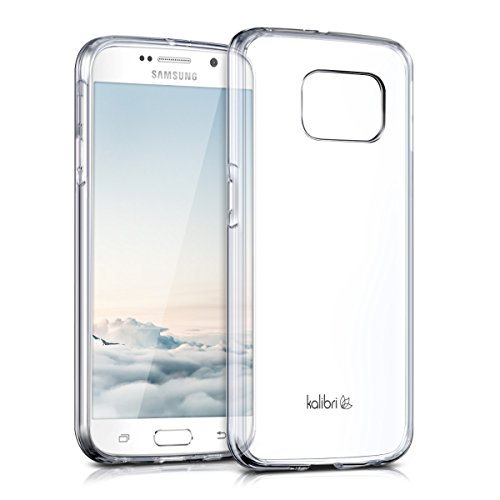 kalibri-Crystal-Case-Hlle-Sunny-fr-Samsung-Galaxy-S6-S6-Duos-transparente-Kunststoff-Schutzhlle-mit-TPU-Silikon-Rahmen-in-Transparent