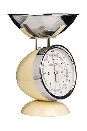 Premier Housewares 0807274 Balance de Cuisine Electronique avec Bol Acier Inoxydable Crème