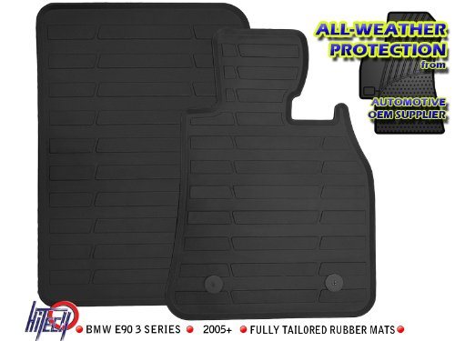 BMW 3 Series E90 / E91 Rubber Car Mats 2005-2010 Fully Tailored