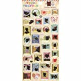 San-X Black Cat Sticker - Kutusita Nyanko cat & piano SE27104 - Stationery / Decorative Sticker by San-X