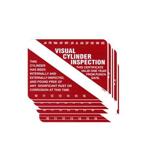 Six Pack Scuba Tank Visual Inspection Sticker VIP (Scuba Tank Inspection compare prices)