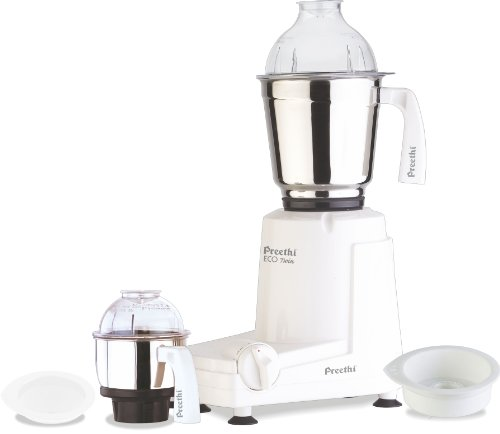 Lowest Prices! Preethi Eco Twin Jar Mixer Grinder, 550-Watt
