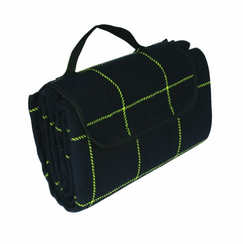 "Read About Camco 42800 Picnic Blanket (51"" x 59"", Black/Yellow)"