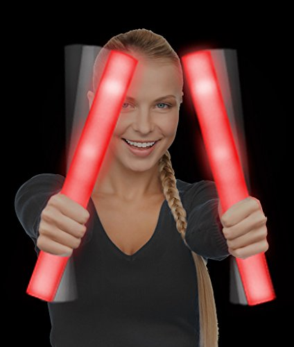 Fun Central G30 LED Foam Stick Baton Supreme - Red - 12 Pack