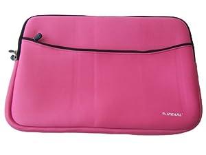 iPearl 13-inch Soft Neoprene Sleeve Case for MacBook & UltraBook laptop (built-in external pocket) - PINK from iPearl Inc, USA