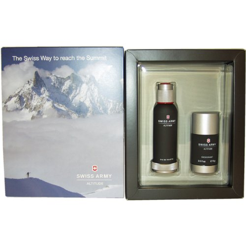 Swiss Army Swiss Army Altitude By Swiss Army for Men Gift Set 3 4 Ounce EDT Spray 2 5 Ounce Deodorant