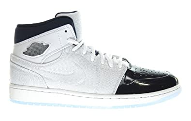 Buy Air Jordan 1 Retro '95 TXT Mens Basketball Shoes White Black-Dark Concord 616369-195 by Jordan