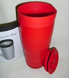 Tupperware Commuter Mug Red Coffe Travel Cup by Tupperware