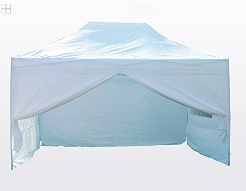 Big Sale!Quictent Silvox 100% Waterproof 10`x15` EZ Pop Up Canopy Gazebo Party Tent Portable Pyramid-roofed 100% Waterproof--8 colors 3 Year Warranty (White)
