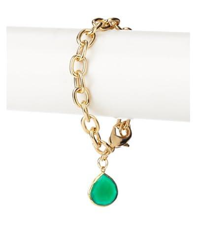 Privileged Green Onyx Stone Drop Bracelet