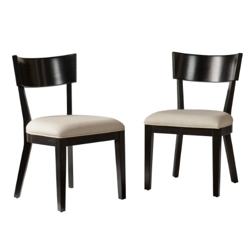Southern Enterprises Madison Dining Chairs Pair, Black