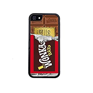 Willy Wonka Golden Ticket Chocolate Bar iPhone 5 / 5s Case By Little Brick Press (Hard Silicone Rubber Case)
