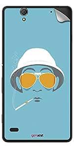 GsmKart SXC4 Mobile Skin for Sony Xperia C4 (Blue, Xperia C4-708)
