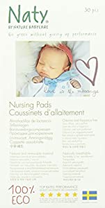 Naty by Nature Baby Care Nursing Pads, 30 pieces per pack.