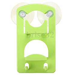 Double Kitchen Tools Sink Drainer Suction Shelf Storage Sponge Racks Holders (Green)
