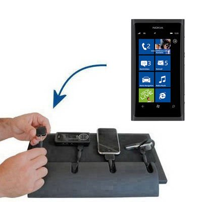 Tabletop Multi-port Charging Station for the Nokia Sun - Clean design charges up to four devices at once. Built using Gomadic TipExchange