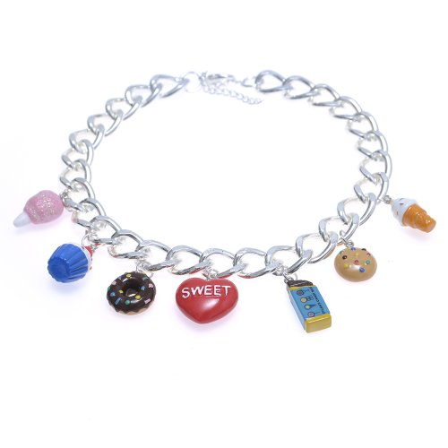 Dylan's Candy Bar Multi-Candy Charm Necklace - Silver
