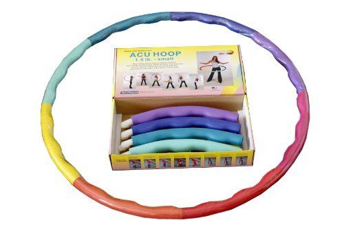 """Sports Hoop®: Acu Hoop® 2S - 1.5lb (Dia.35.5"""") Small, Exercise Hula Hoop with 50 minutes Workout Lesson DVD"""