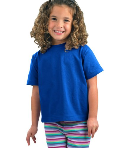 Rabbit Skins Juvenile Cotton T-Shirt 3301J - Royal_7T front-1055954